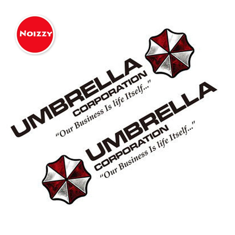 Noizzy 1 Pair Umbrella Corporation Decal Charm Zombie Car Auto Sticker Logo 100percent Vinyl Reflective Door Window Tuning Car Styling
