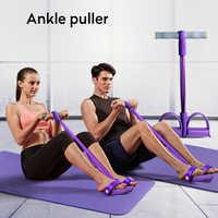 Bandes de résistance de forme physique d'intérieur équipement d'exercice élastique assis tirer corde bandes d'entraînement Sport pédale extracteur de cheville