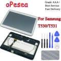Opesea 삼성 갤럭시 탭 4 10.1 SM-T530 t535 t531 t530 lcd 디스플레이 패널 터치 스크린 디지타이저 유리 어셈블리