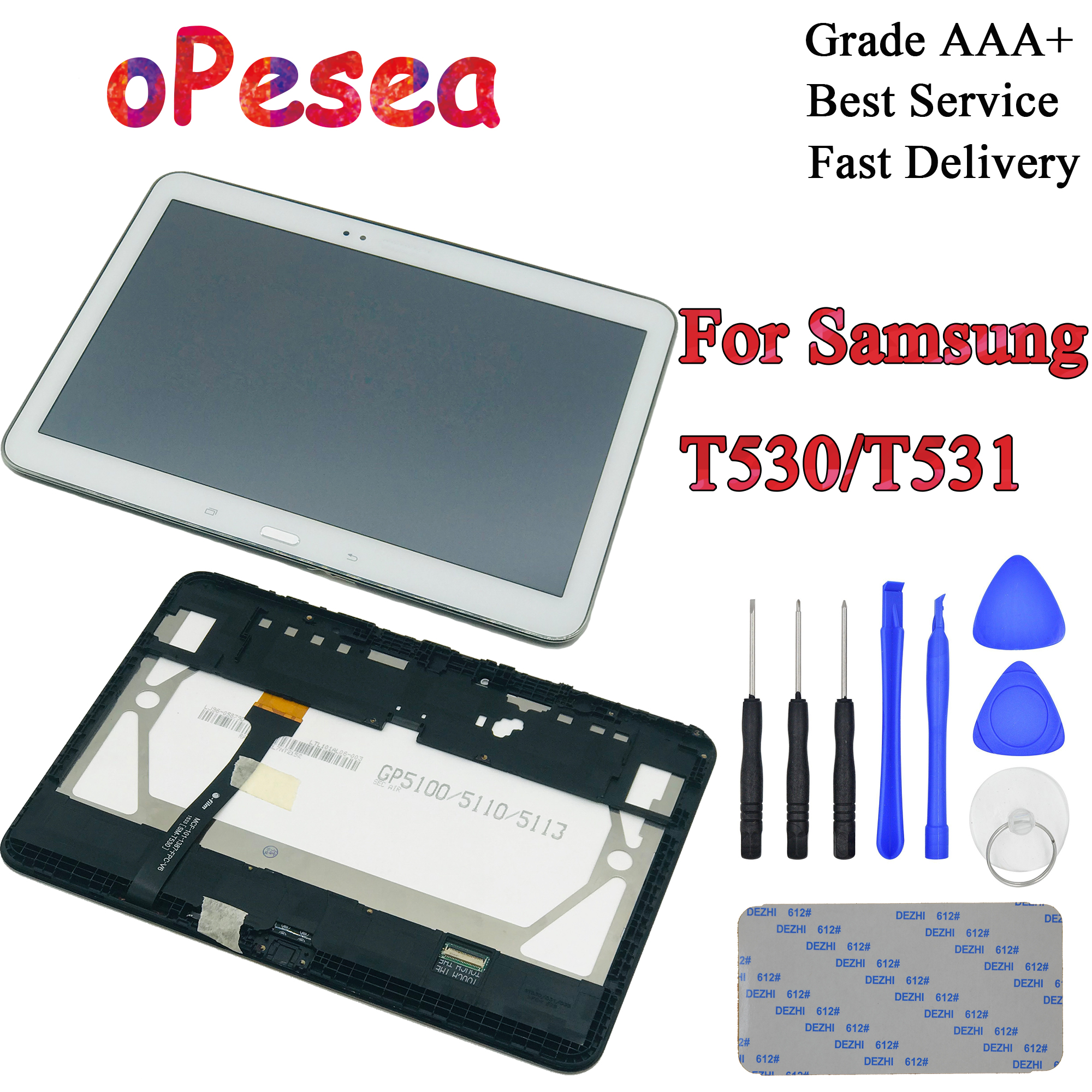OPesea For Samsung Galaxy Tab 4 10.1 SM-T530 T535 T531 T530 LCD Display Panel Touch Screen Digitizer Glass Assembly
