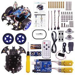 Rowsfire Bat projet de voiture Robot intelligent tutoriel de démarrage complet jouet Programmable haute technologie pour Kit de Test Arduino pour enfants adultes