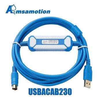 USBACAB230 Delta Cable de programación de PLC USB a RS232 adaptador para USB-DVP ES EX EH CE SE SV SS Cable serie