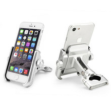 Motorcycle Navigation Aluminium Alloy Bracket Universal Mobile Phone Holder Bicycle Stand Rotatable