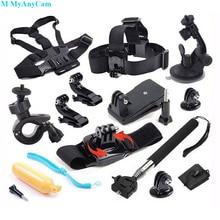 12T01 Floating Bobber+Chest+Head+Wrist Belt+Monopod Stick+Car+Bicycle+J Type Base+Storage Bag+Adaptor+Backpack Clips+Long Screw