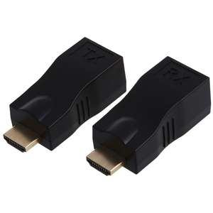 4K HD 1080P 3D HDMI Extender Over A Dual RJ45 Cat 5e / 6 Ethernet Network Adapter