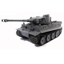 2 4ghz henglong gray german tiger i 1 16 scale rtr rc tank metal tracks wheels 3818 360 degrees rotation turret MATO1:16 full metal German Tiger 1 tank Tiger 1 remote control model car bombing / infrared battle DIY toys