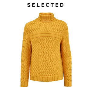 Image 5 - SELECTED Mens Winter High necked Pullover New Woolen Knitted Turtleneck Sweater Clothes L