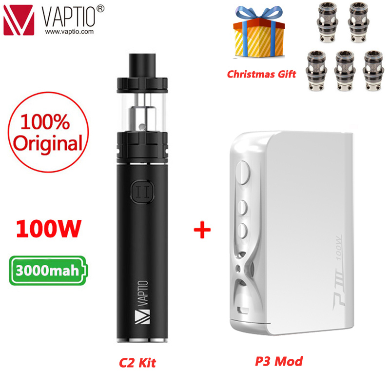 UK SHIPPING!! 100% Original Vaptio C-II Starter Kit 3000mAh And Long-last Battery 25mm Vaporizador Electronic Cigarette Vape Pen