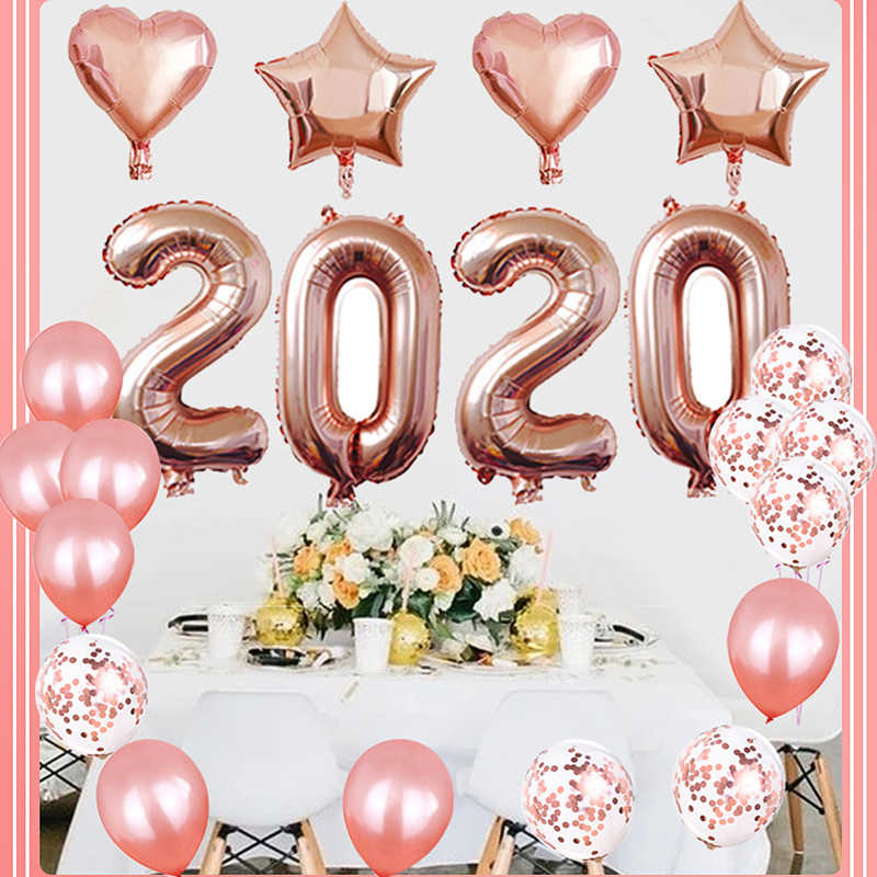 40 Inch 2020 Foil Balloon Set Hanging Number Balloons For Party Decorations For Home Happy New Year Christmas Party Decorations