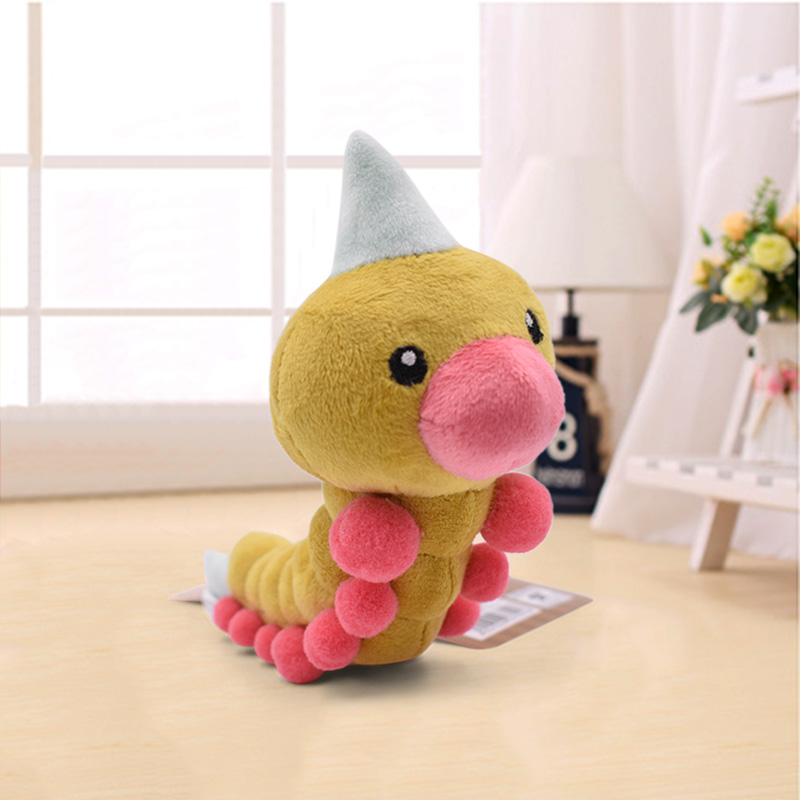 2020 New Free Shipping 19cm Weedle Plush Toy Soft Stuffed Peluche Dolls Gift For Kids' Christmas Gift Retail