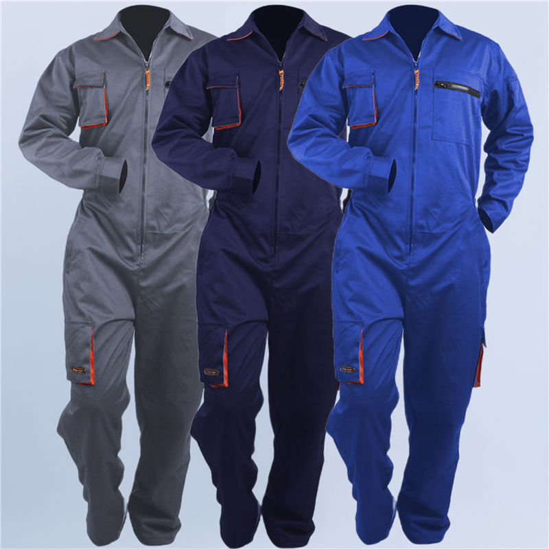 Woman men work overall working uniform spring thin pockets Coveralls welding suit car repair workshop mechanic Plus Size clothes
