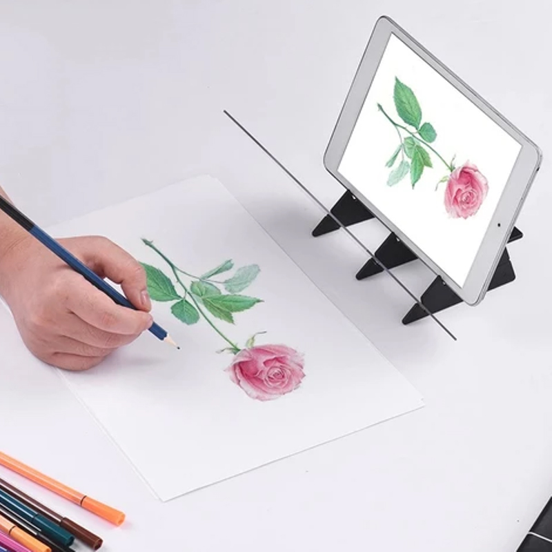 High Quality Optical Image Drawing Board Sketch Reflection Dimming Bracket Painting Mirror Plate(Give A Small Gift)