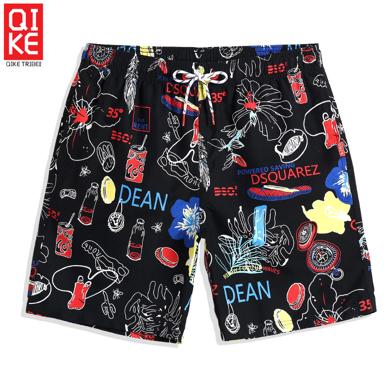 New Men's Bathing suit joggers sport de bain homme swimsuit Navy Cartoon quick dry surfing liner   Board     shorts   praia mesh