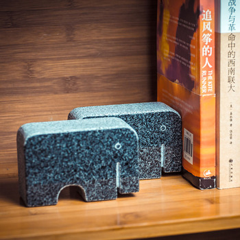 Elephant stone Desk Stands Bookend Holder Home Decoration accessories Office School Supplies Stationery Creative Christmas Gift