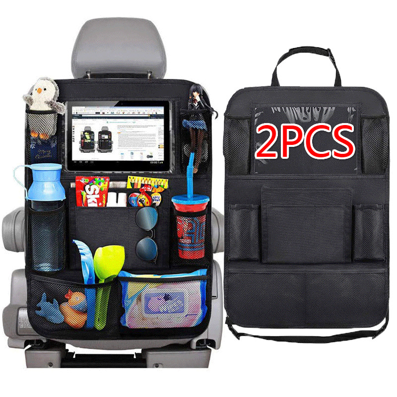 Car Seat Back Organizer 9 Storage Pockets with Touch Screen Tablet Holder Protector for Kids Children Child Car Accessories
