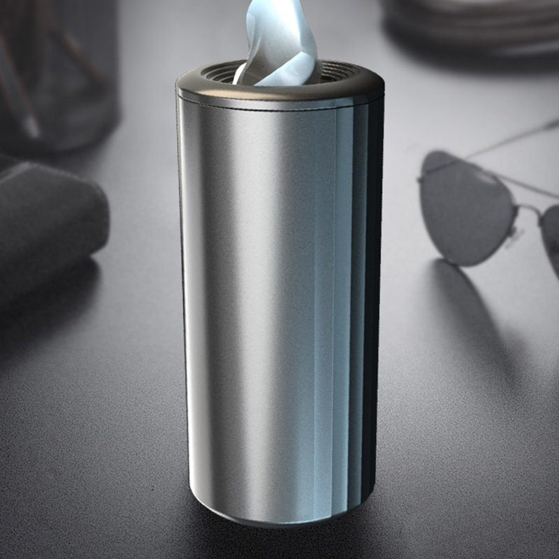 Car Tissue Box Home Round Silver Tube Replacement Plastic 155x70MM Storage Multi-functional