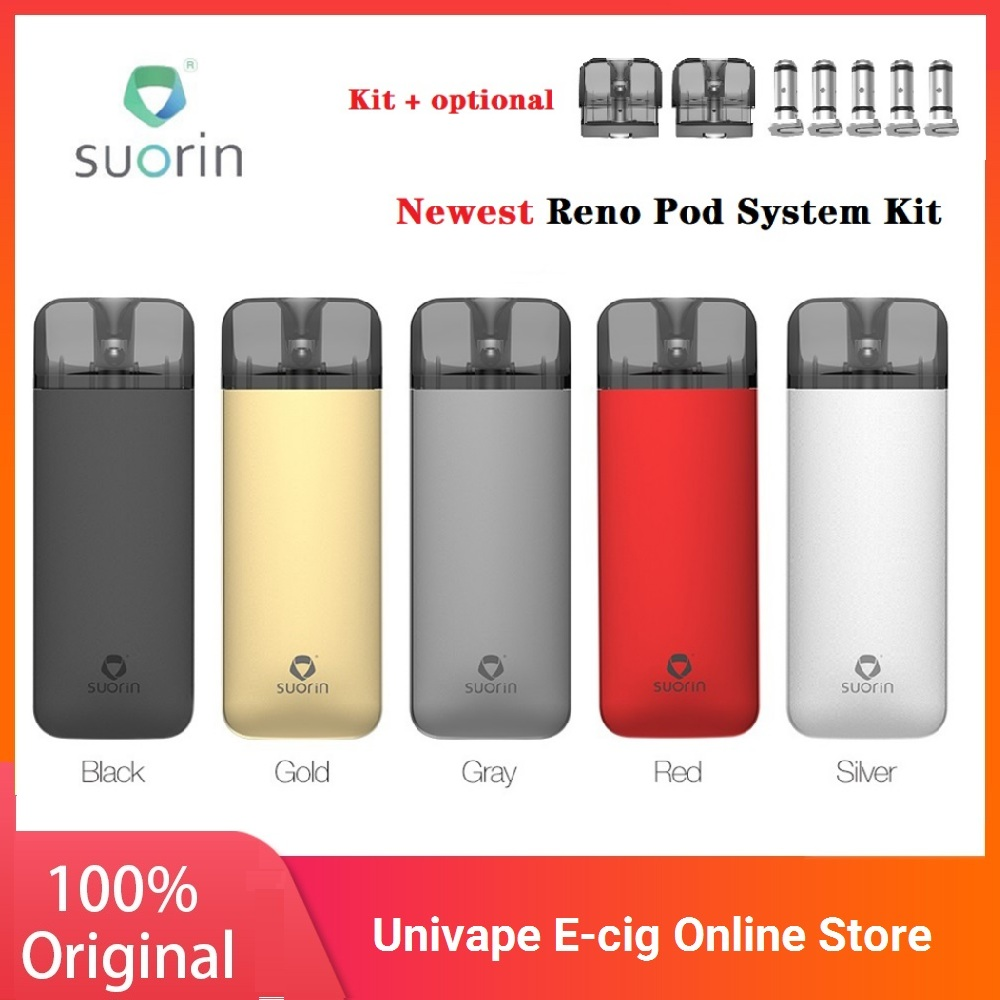 Suorin Reno Pod System Kit With 800mAh Battery & 3ml Pod Cartridge Aluminum Alloy E-cig Vape Kit VS Vinci X / Suorin Air Plus