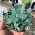 300-800 г натуральный зеленый призрак кристалл кварца кластера Исцеление Кристаллы сырья образец драгоценного камня для дома и офиса украшени...