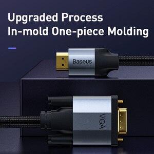 Image 4 - Baseus kabel HDMI do VGA 1080P HD A z męskiego na męskie VGA do HDMI Adapter Audio kabel do projektora PS4 PC TV Box HDMI VGA konwerter