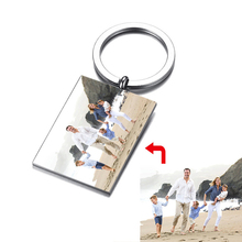 Women Personalize Colorful Photo Key Chain for Men Custom Jewelry Stainless Steel Unique Gifts Him Her