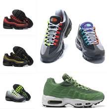 Envío Gratis hombres Shox actual 95 95S zapatos de hombre negro de malla transpirable barato zapatillas Zapatillas Hombre en azul deportes 36-45