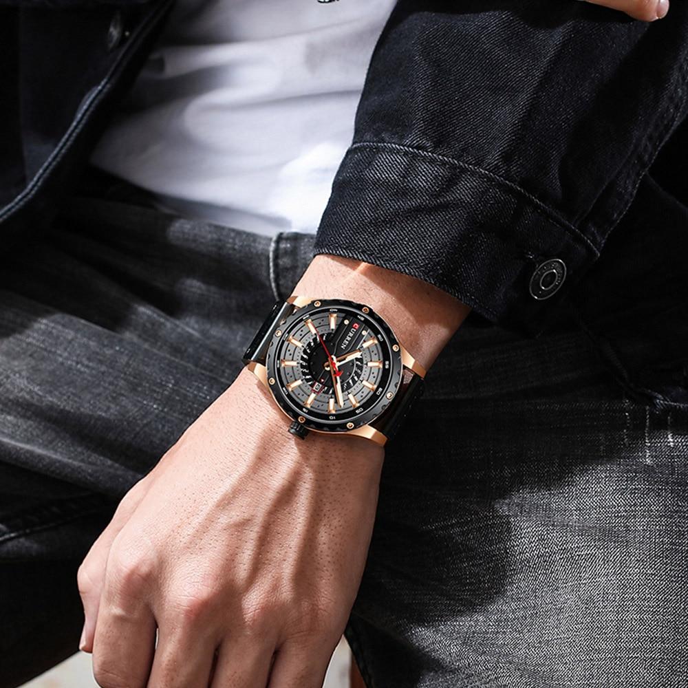 Hb4131d5a0dae4a18b6cfe0c6d8551718t CURREN Watch Wristwatch  New Chic Luminous hands
