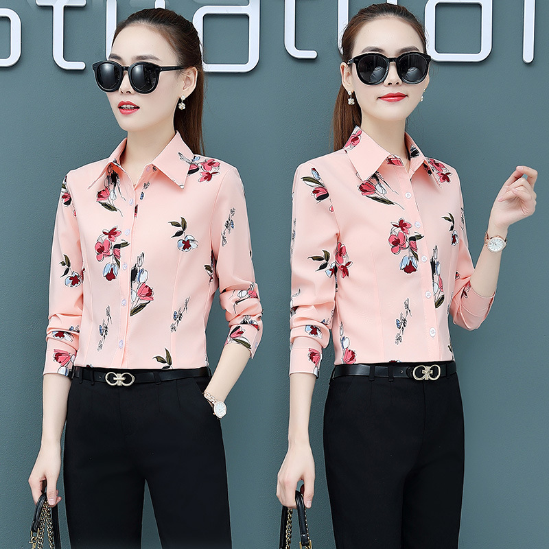 Купить корейская мода шифоновые женские блузки винтажные с длинным