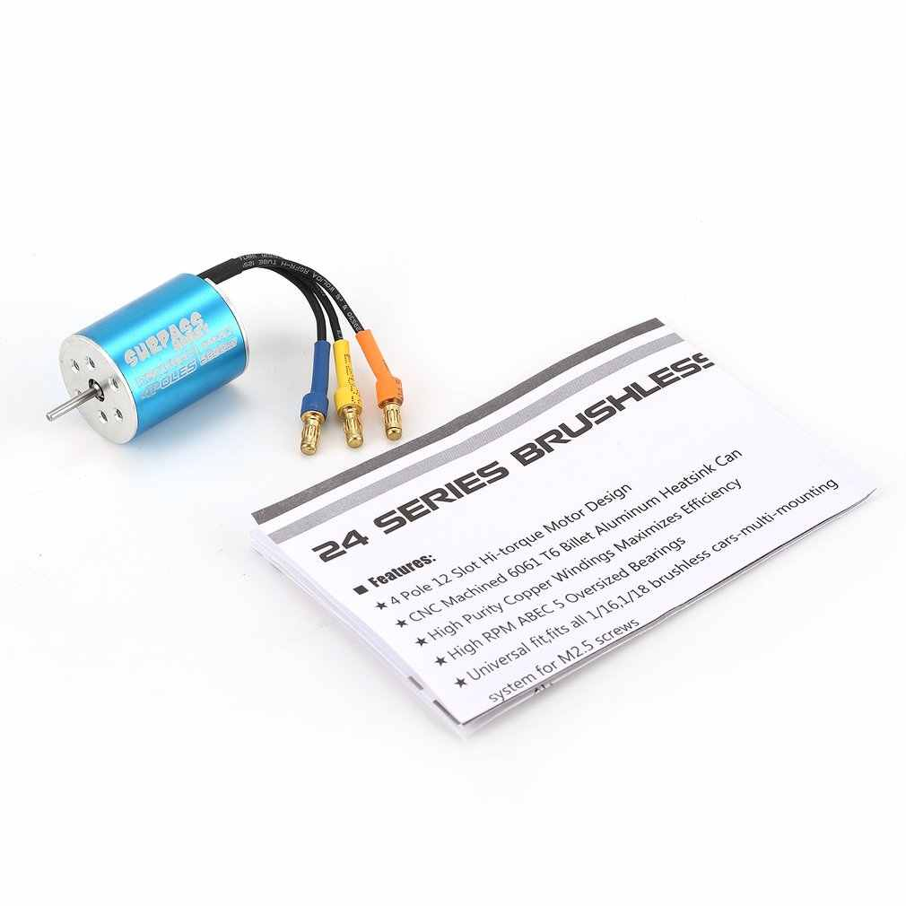 SURPASSHOBBY Motor sin escobillas 2440/2435/2430 sensor RC Motor de coche para 1/16, 1/18 RC coche de Control remoto de repuesto accesorios