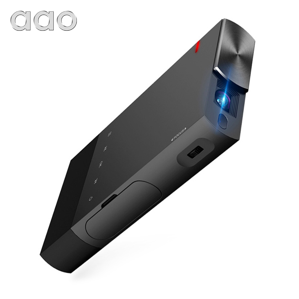 AAO 5200mAh DLP A1 Portable S1 Mini Projector 2000Lumens Sync Wired Display For IOS Android Phone 1080P Home Theater HDMI USB image
