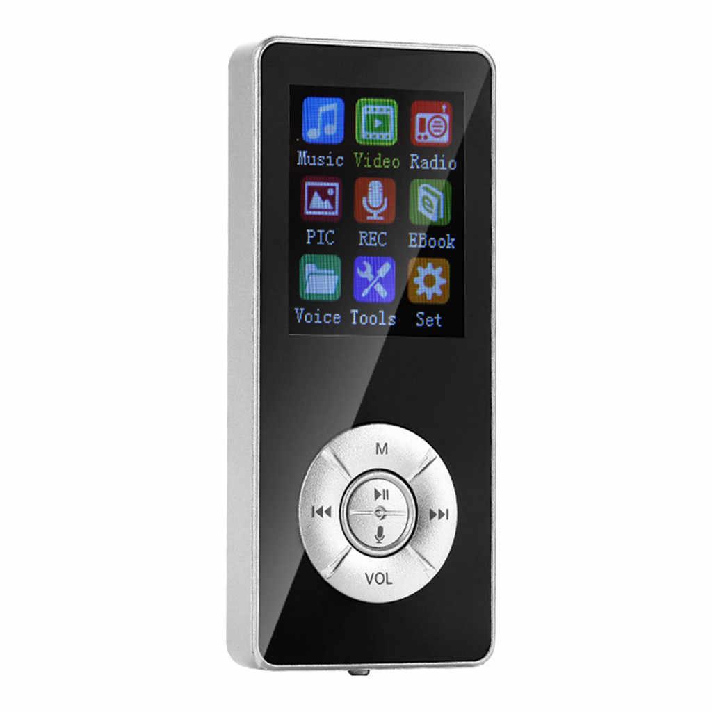 35 @ Terbaru USB Mp3 Pemutar Musik Digital Layar LCD dengan 32 GB Kartu Tf dan Radio FM dengan Mikrofon hitam Biru Mp3 Pemain