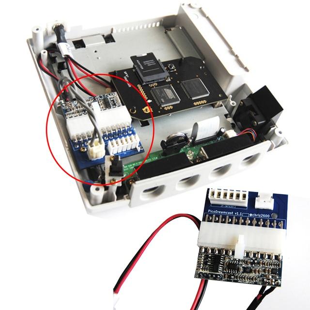 ل Sega Dreamcast بيكو PSU امدادات الطاقة 110 فولت 220 فولت 12 فولت ل Dreamcast بيكو لوحة الطاقة الولايات المتحدة التوصيل محول الطاقة