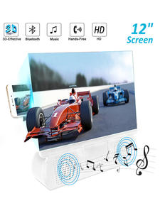 Mobile-Phone-Screen Amplifier Speaker Bluetooth Magnification 3D with Abs-Case HD HD
