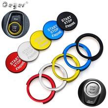 Ceeyes pegatinas de diseño de botón de arranque y parada de motor para Bmw F20, F21, F30, F31 y F10, cubierta de caja, accesorios de decoración para interruptores