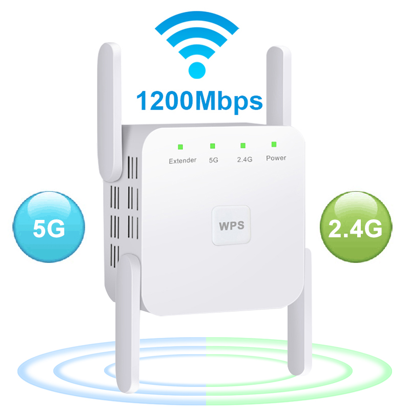 5 Ghz WiFi Repeater Wireless Wifi Extender 1200Mbps Wi-Fi Amplifier 802.11N Long Range Wi Fi Signal Booster 2.4G Wifi Repiter