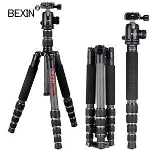 Image 2 - BX285C treppiede in fibra di carbonio portatile leggero treppiede da viaggio fotocamera treppiede pieghevole treppiede per fotocamera dslr