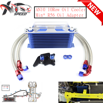 For Min* Coope* S R56 oil cooler + 10 row oil cooler AN10 10 rows oil cooler XXTOL10-17BL/BK