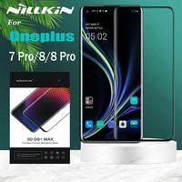 Oneplus 8 Pro Gehärtetem Glas Oneplus 7 Pro Screen Protector Nillkin 3D Full Coverage 9D Rand Sicherheit Glas auf Eine plus 8 7 Pro
