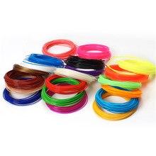 Uso para a pena de impressão 3d 5m 17 cores 1.75mm fios de filamento abs materiais plásticos da impressora 3d
