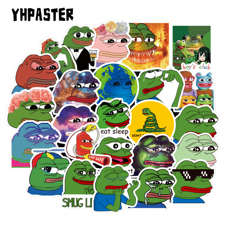 10/30/50 Pcs/Set Spoof Pepe Sad Frog Cartoon Graffiti Stickers For Laptop Refrigerator Motorcycle Skateboard Scrapbook Toy Gift