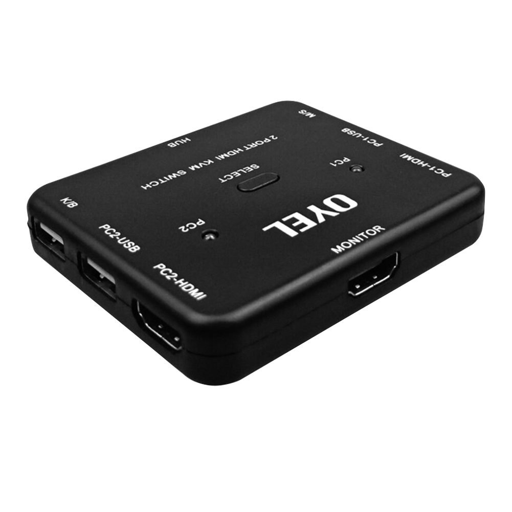 For Scanner Laptop High Speed Plug And Play 2 Ports Portable Bi Direction Home Ultra HD Stable Universal Converter HDMI Switch