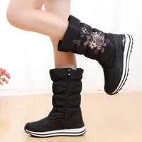 Frauen schnee stiefel plattform winter stiefel dicken plüsch wasserdicht nicht-slip stiefel frauen winter warm pelz botas mujer plus größe