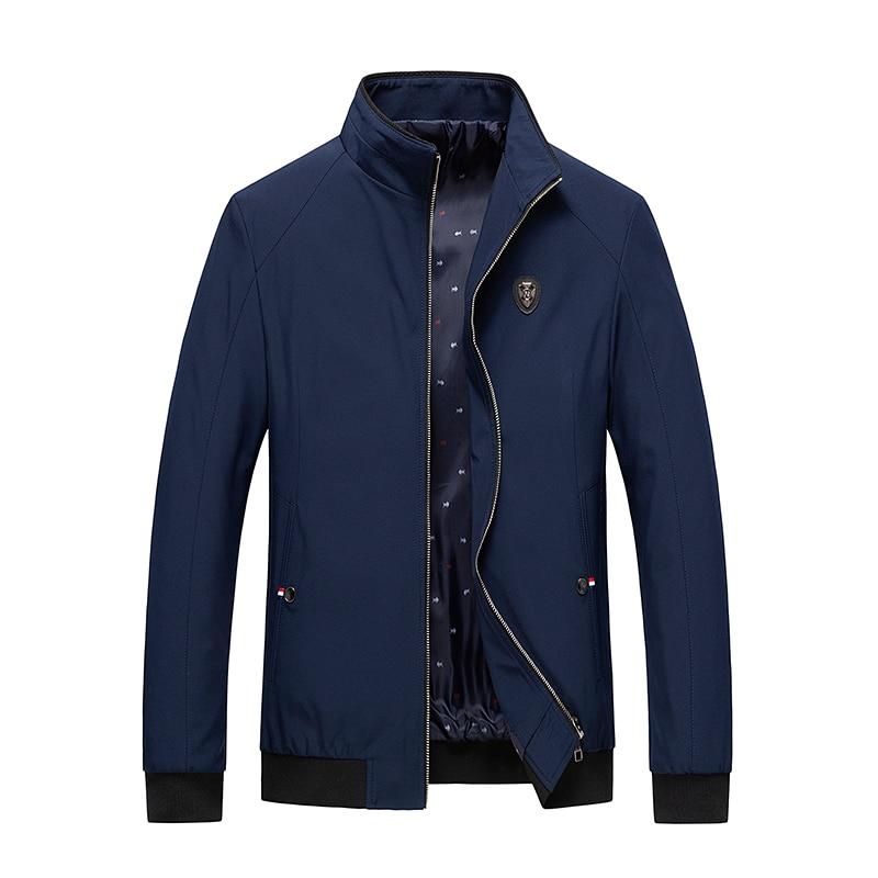 Men Jacket Spring Autumn New Style Men Jacket Thin Business Men Coat Zipper Black Male Casual Style Stand Collar Jackets  M-4XL