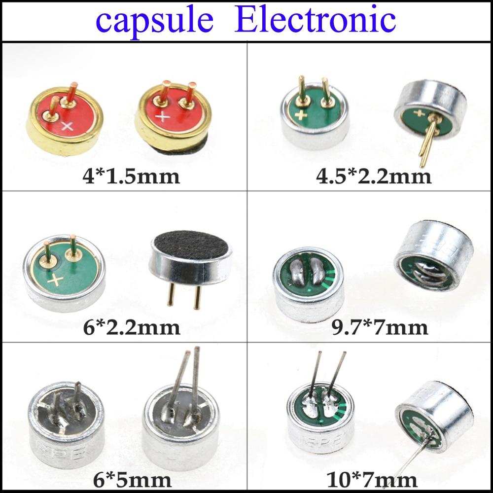 YuXi 4*1.5mm /4.5*2.2MM / 6 X 2.2 Mm / 9.7*7mm /6x5 Mm / 10 X 7 Mm With 2 Pin Cables Capsule Electret Condenser Microphone