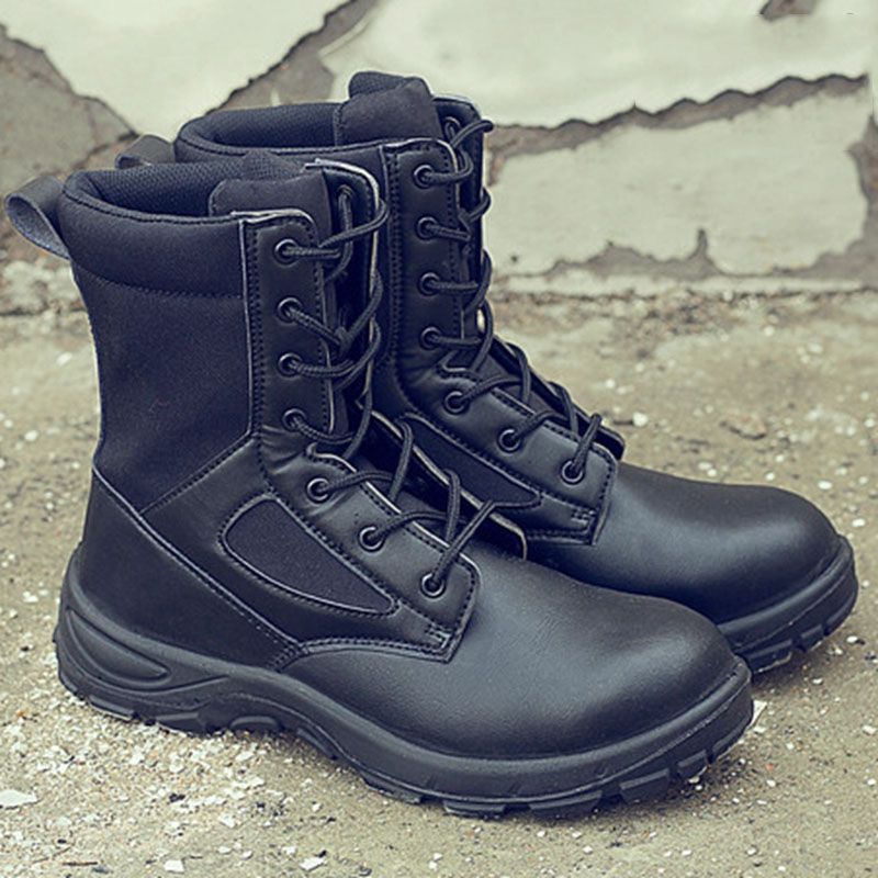 New Exhibition Men Steel Toe Safety Shoes Anti-smashing Breathable Safety Boots Durable Work Protective Labor Insurance Shoes