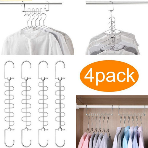 2020 Multifunctional Magic Clothes Hanging Chain Metal Clothes Closet Hangers Shirts Tidy Hangers Save Space Clothing Organizer
