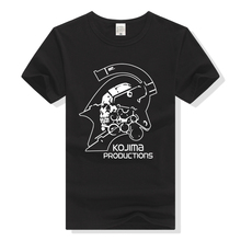 Metal Gear Solid T Shirt Kojima Productions T-Shirt Men man Tshirt Plus Size MGS Hideo Clothing Death Stranding