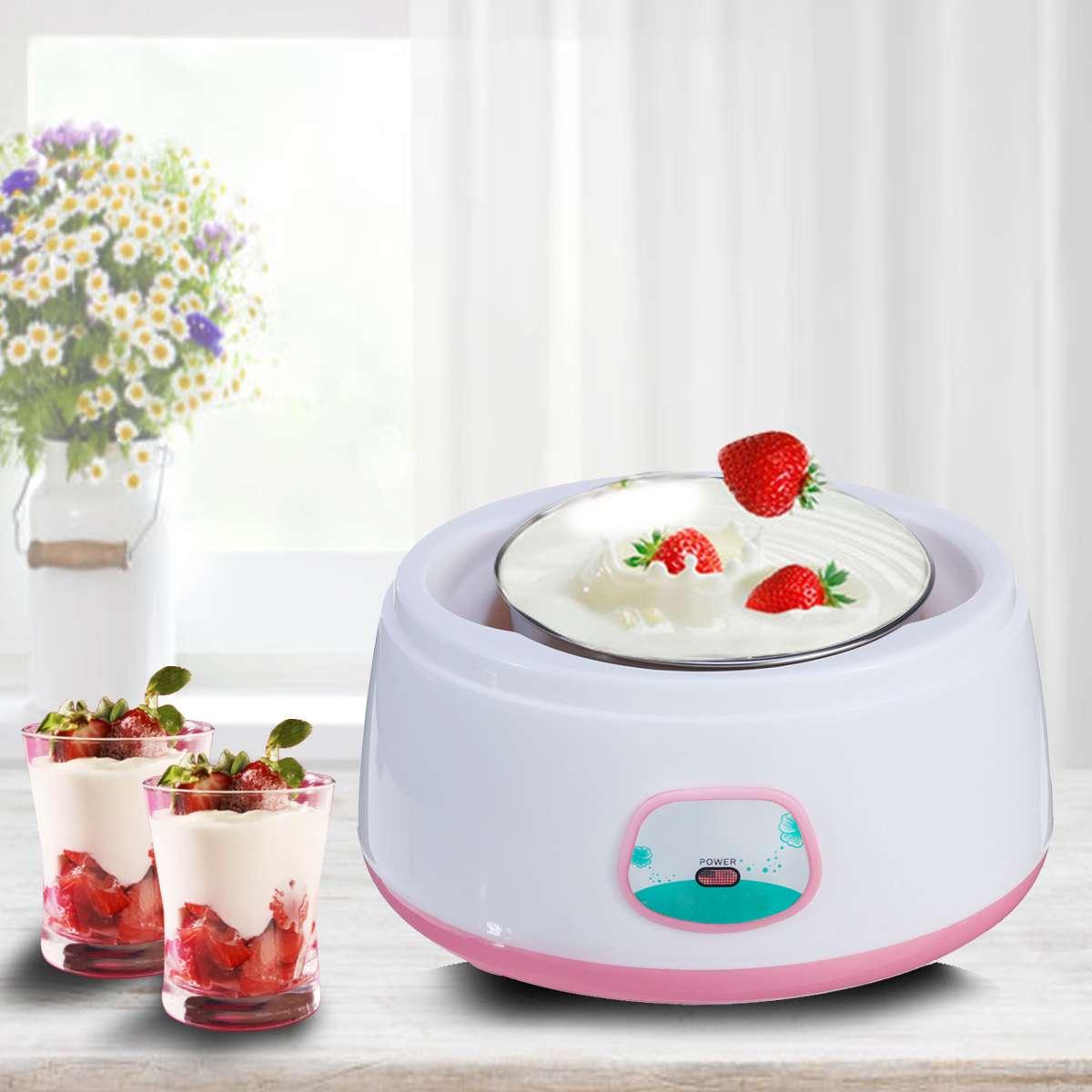 1.2L Yogurt Makers Full Automatic Yogurt Machine Maker 220V Household Stainless Steel/PP DIY Yogurt Tools Mini Kitchen Appliance