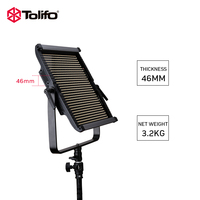 Tolifo GK S150B PRO Bi color Ultra Bright LED Professional Video Camera Light with Barndoors for Vlog Canon Nikon Sony Camera