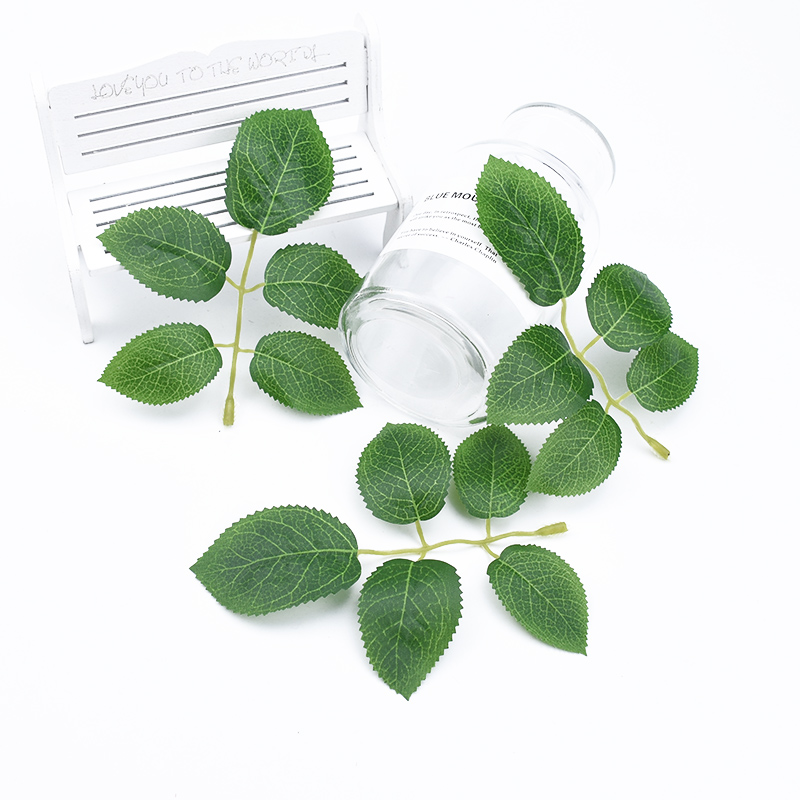 20/50pcs Wedding Bridal Accessories Clearance Home Decor Silk Roses Leaf Scrapbook Diy Gifts Box Cheap Artificial Plants Leaves