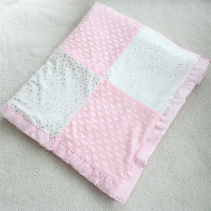 Image 3 - 80X110cm 2 layers star heart pattern patchwork fleece coral minky soft thermal toddler child baby blanket bedding quilt swaddle